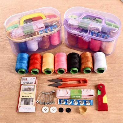 便携式家用针线包大号套装多功能手缝彩色手工缝衣针线盒收纳盒