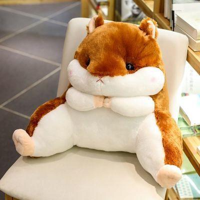 2020新款龙猫仓鼠学生腰靠椅子护腰枕靠枕靠背靠垫汽车办公室抱枕