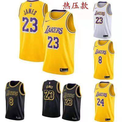 新款湖人詹姆斯23号NBA篮球服套装男科比篮网队11号欧文球衣7号杜