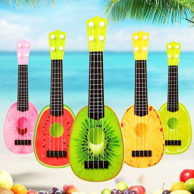 儿童玩具可弹奏仿真吉他初学者宝宝益智乐器水果迷你尤克里里小号
