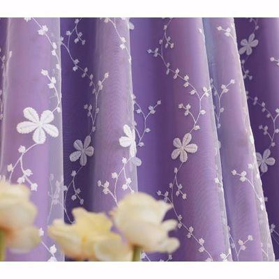 2020新款韩式双层粉色蕾丝全遮光公主风客厅卧室结婚婚房阳台定制