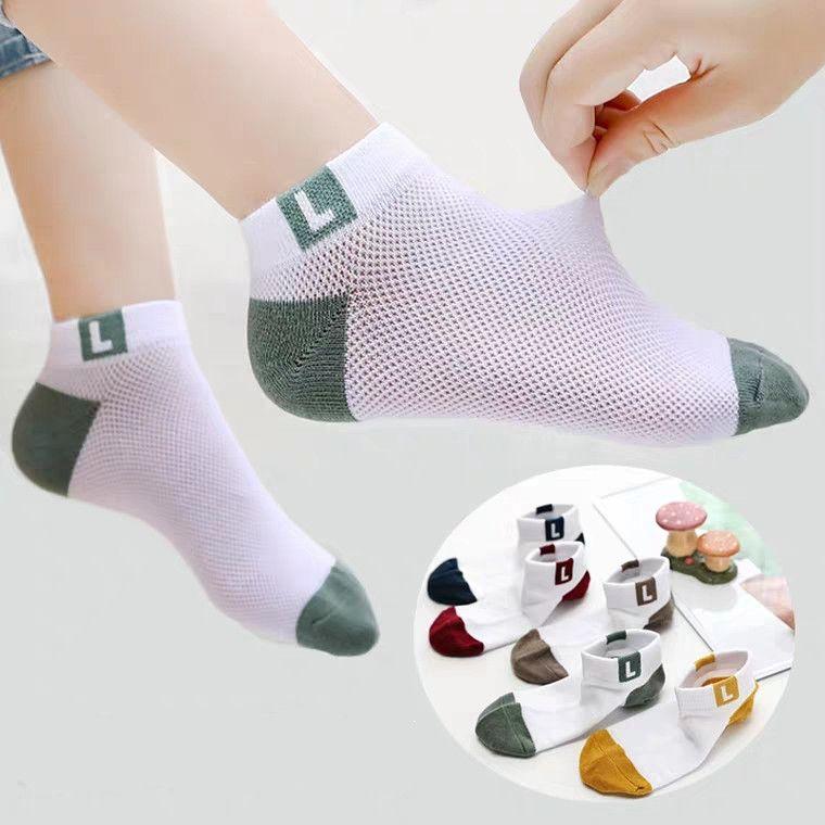 10双装袜子春秋薄款棉袜儿童中筒袜棉中大童春夏宝宝透气童袜夏季