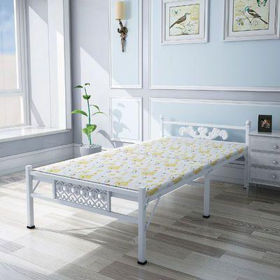 2020新款单人床折叠床午休床木板床行军床现代简约家用出租房铁艺
