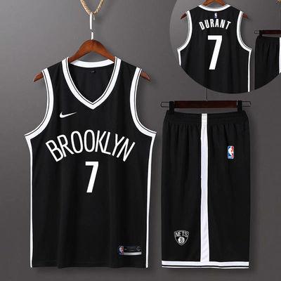 新款篮网球衣夏NBA背心篮球服套装男训练服11号欧文7号杜兰特球衣