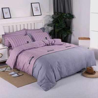 纯棉被套单件1.5米1.8米单双人床简约公主风卡通100%全棉斜纹被罩