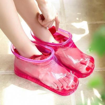 17822/泡脚鞋女足浴鞋泡脚桶脚盆家用按摩泡脚洗脚木桶塑料足浴洗脚神器