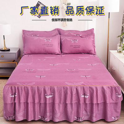 清仓处理韩版床罩床裙单件公主风网红席梦思床单床笠保护罩防尘罩