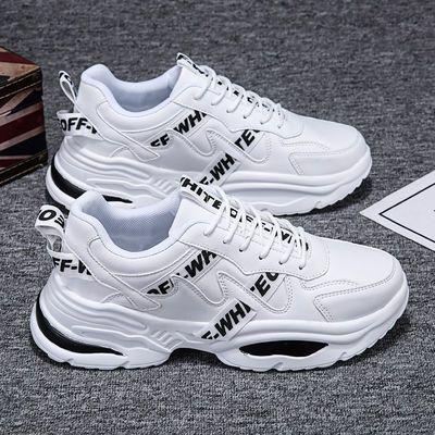 新款新品春季男鞋子韩版潮流小白鞋透气网鞋男士增高老爹鞋夏季情