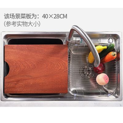 新款新品不开裂 乌檀木菜板实木家用砧板整木长方形切菜板厨房案