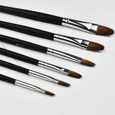 新款(送4根勾线笔+支画笔)透明磨砂水粉笔 油画笔 绘画狼毫丙烯画