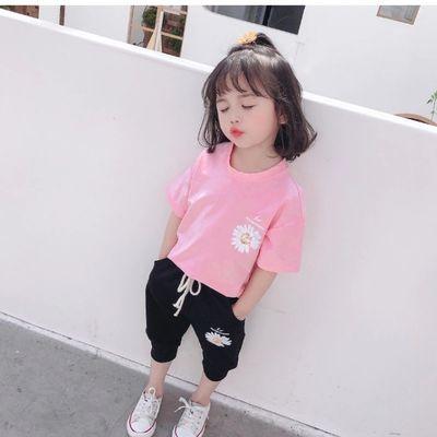 女童套装网红小雏菊夏装2020童装新品宝宝衣服纯棉短袖 单件/套装