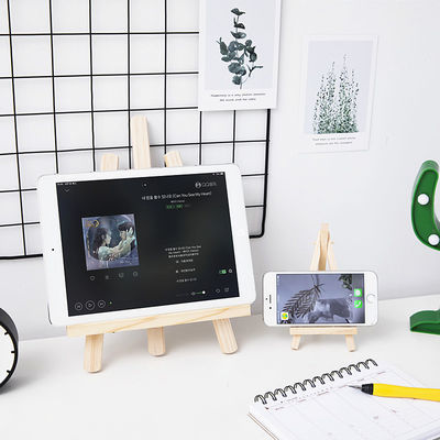 ins风木质桌面可折叠支架手机ipad支架装饰学生书桌收纳平板画架