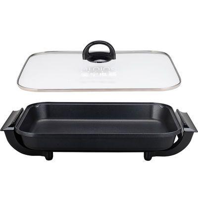 新款新品爱宁302大号韩式不粘电烤盘 多功能电烤炉家用铁板烧烤肉