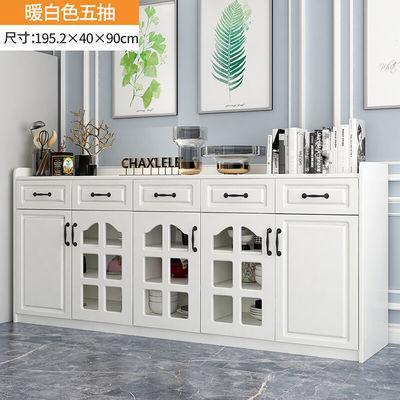 北欧厨房碗橱柜家用办公茶水柜多功能收纳柜储物柜简约现代餐边柜