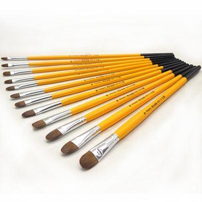 水粉狼毫颜料笔美术用油画笔单支套装丙烯水彩画笔圆头狼嚎水粉笔