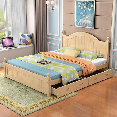 18米床简约现代主卧实木床15米双人床12米经济型单人床欧式床