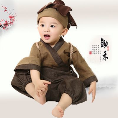 2020新款抖音同款小书童服装儿童汉服男孩小药童衣服男女童古装锄