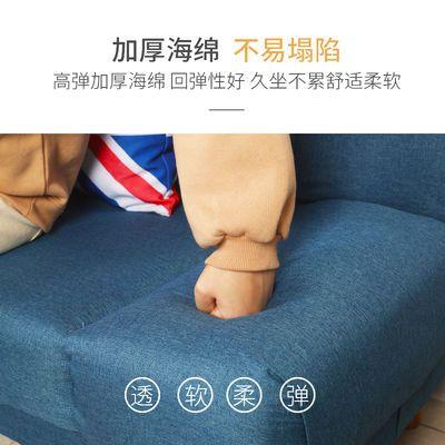 简易布艺沙发床两用折叠懒人沙发客厅卧室小户型单人双人三人租房