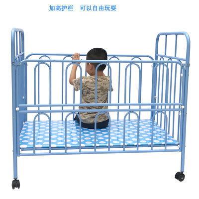 新款新品婴儿床铁床游戏床可拼接大床新生儿初生宝宝bb床可变书桌