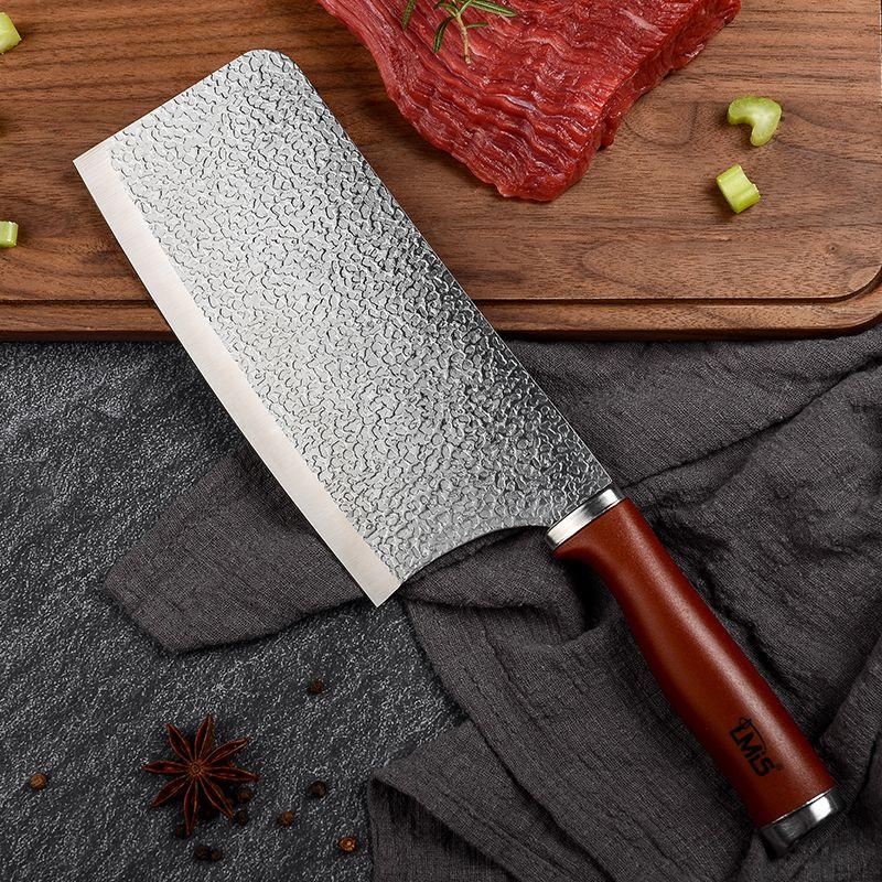 锤炼钢芯开刃菜刀锋利切片切肉家用不锈钢斩切两用厨房锻打切菜刀