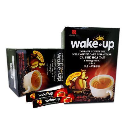 威拿三合一速溶猫屎咖啡3盒*306g越南原装wakeup盒装18条*17克/盒