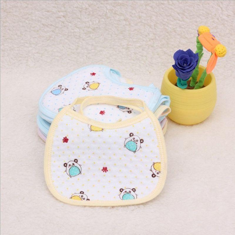 宝宝口水巾防水1/3/5条装新生儿纯棉口水巾婴儿围嘴小孩纱布围兜