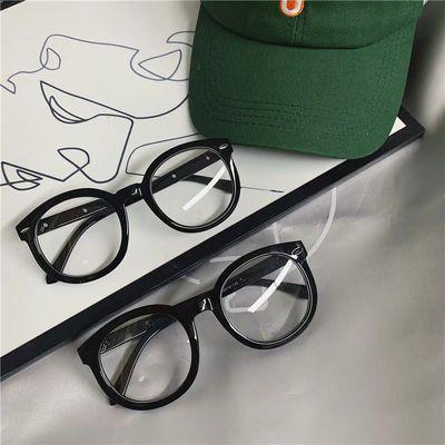 黑色眼镜女学生韩版近视有无度数眼睛抖音网红同款大框平光眼镜架