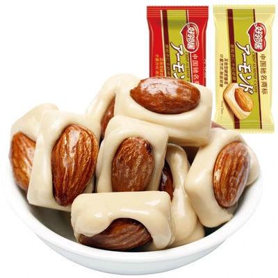 好邻居巴旦木坚果牛奶杏仁味年货糖果零食婚庆喜糖散装250g扁桃仁