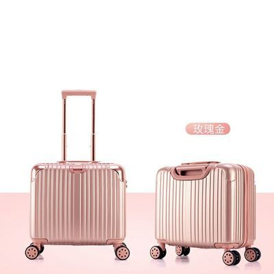 18寸轻便可爱行李箱迷你拉杆箱学生旅行密码登机箱14寸手提化妆箱