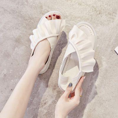 网红学生凉鞋女2020夏季新款百搭ins潮仙女风平底防滑果冻底女鞋