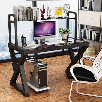 2020爆款电脑桌台式桌现代简约办公桌书桌书架组合经济型学生学习