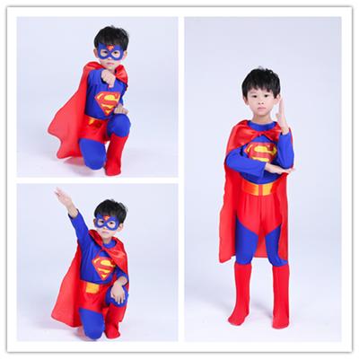 2020新款元旦节儿童超人表演服装男女童cosplay迪士尼化装舞会走