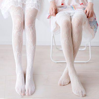 日系白丝袜子少女蕾丝打底洛丽塔连裤袜过膝黑色显瘦连体网红袜子