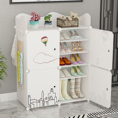鞋柜家用门口防尘收纳鞋子神器多功能鞋架简易多层加厚加固大容量