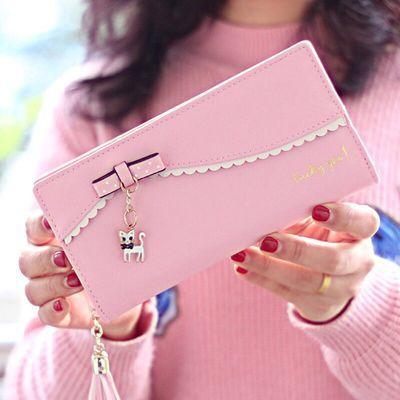 时尚包包女手拿包新款手包零钱包女皮钱韩版卡包包可爱黑包功能