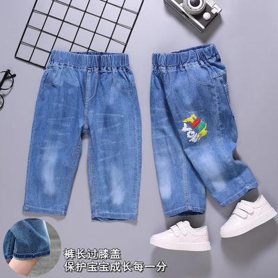 男童牛仔短裤夏装中裤2020新款儿童七分裤夏季中大童休闲裤子热裤