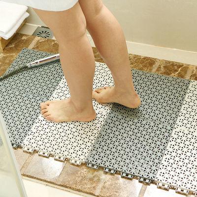 环保无味浴室地垫拼接防水卫生间镂空防滑垫洗澡满铺地垫隔水脚垫