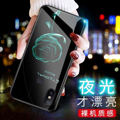 小米max3手机壳夜光玻璃保护套防摔女男款个性创意网红潮牌保护壳