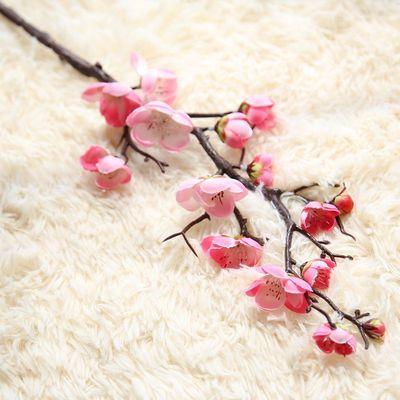 新品仿真花摆件客厅大枝梅花高端仿真梅花绢花假花干花腊梅梅花苞