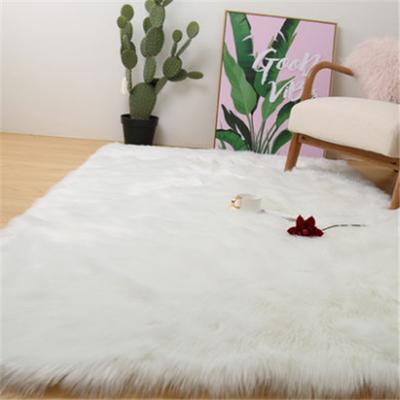 厅卧室飘窗垫仿澳洲羊毛沙发毯白色长毛绒地毯整张羊皮羊毛垫客