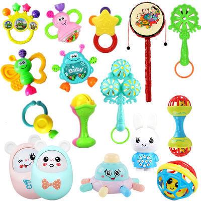 婴儿玩具3-6-12个月新生儿摇铃0-1岁宝宝早教幼儿手摇益智男女孩