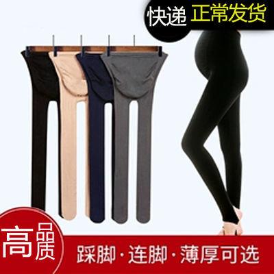 爆款孕妇打底裤春秋薄款孕妇打底袜丝袜可调节托腹连裤袜孕妇托腹