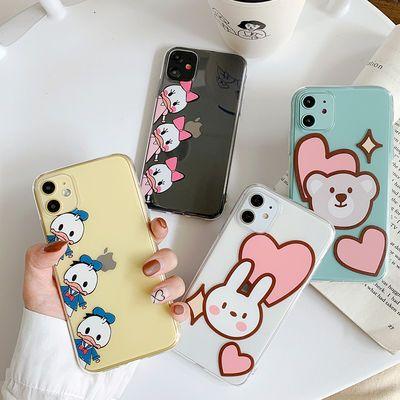 卡通兔子小熊11Pro/Max苹果X/XS/XR手机壳iPhone6s/8plus/7女6p套