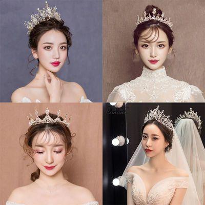 jjyp2019新款成人生日皇冠头饰十八岁成人礼新娘婚纱礼服配饰古风