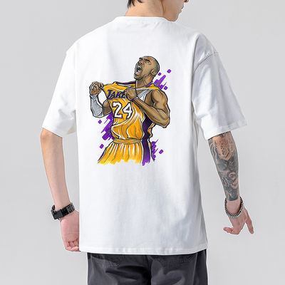 夏季大码短袖T恤男士休闲宽松圆领t恤怀念科比百搭潮流五分袖新款
