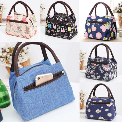 韩版可爱小号便当袋上班族提装饭盒的包包时尚布手提妈咪饭盒袋子