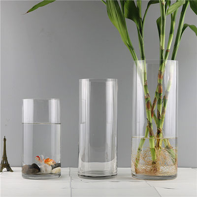 特大号透明玻璃花瓶摆件客厅插花干花直筒富贵竹水养水培婚庆落地
