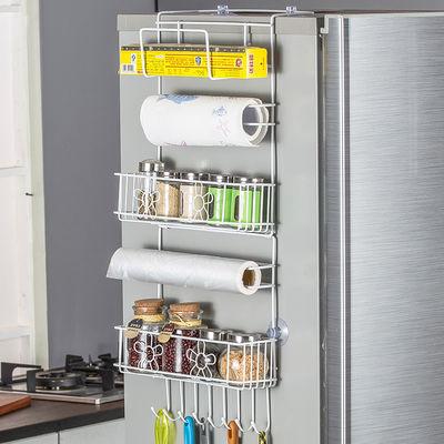 冰箱置物架冰箱侧壁挂架创意家用厨房用品保鲜膜架冰箱侧面收纳架