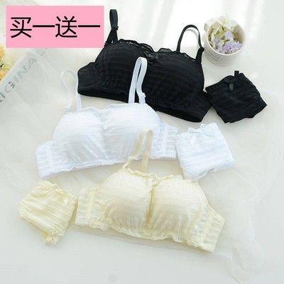 【买二送四】日系抹胸内衣女韩版学生小胸少女文胸无钢圈薄款套装