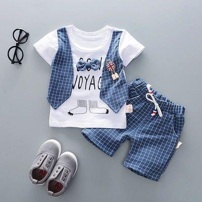 一岁半宝宝夏装男宝0-1-2岁3夏天假三件套男婴儿童小孩潮衣服韩版